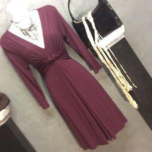 XS New York & Company Burgundy Dress So Chic!